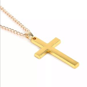 Alloy gold plated necklace stainless steel ✝️